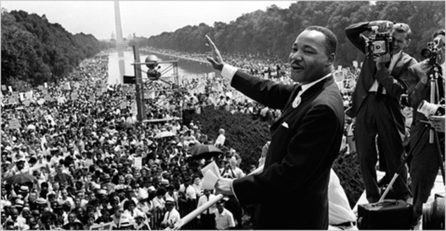 """MLK Jr. lead March on Washington and give his famous """"I have a Dream"""" speech"""
