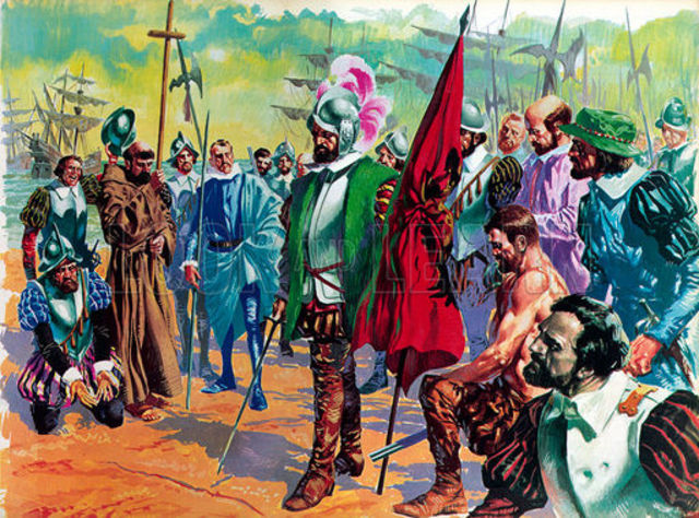 Cortes Arrives in Tenochtitlan