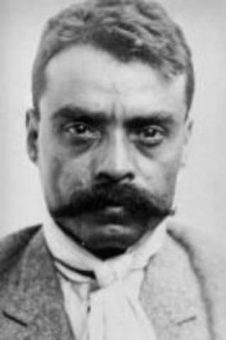 Emiliano Zapata starts the Mexican Revolution