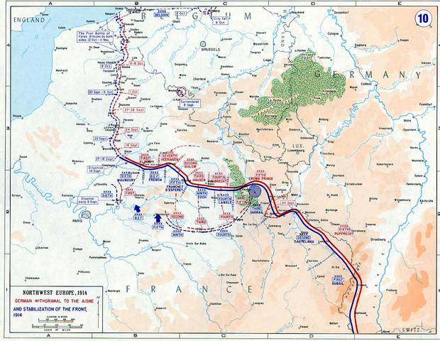 Battles at the Western Front Begin