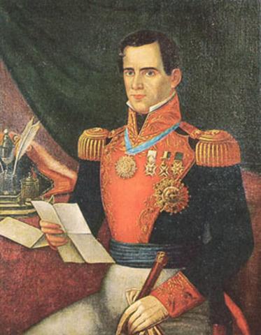 Santa Anna becomes president of Mexico