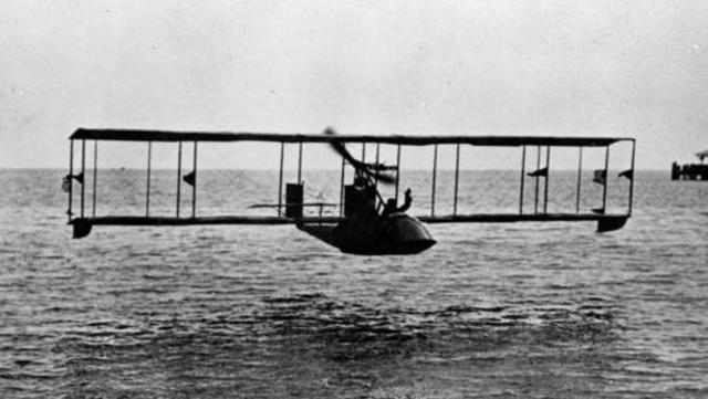 First Commercial Plane Flight