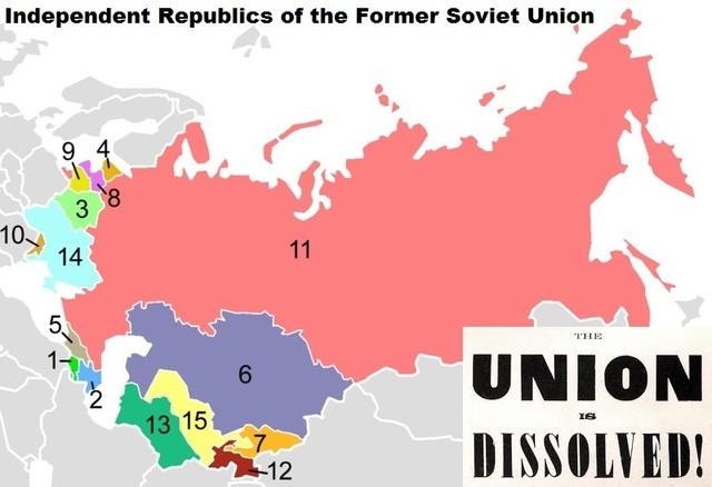 Soviet Union falls