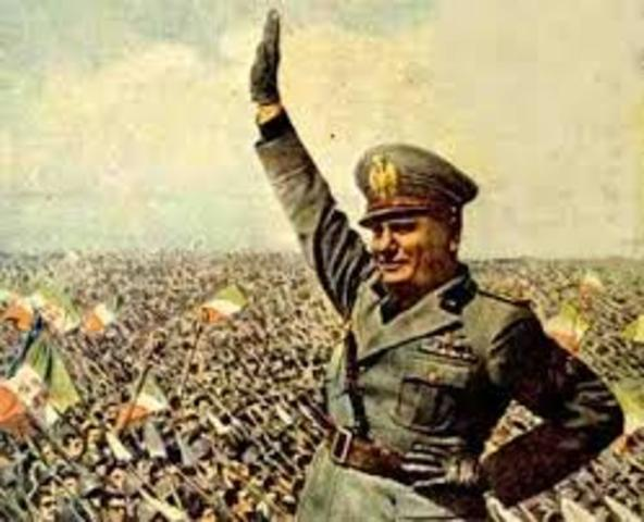 Mussolini takes over