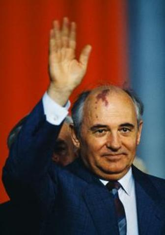 MIkhail Gorbachev becomes leader of Russia