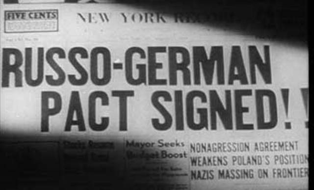 Germany (Hitler) and Russia (Stalin) sign a non-aggression pact