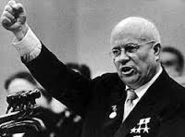 Stalin dies, Krushchev takes control