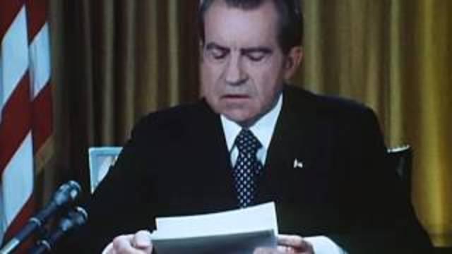 Nixon's first speech addressing the Watergate scandal.
