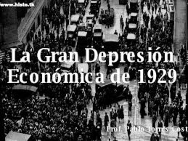 La crisis económica de 1929.