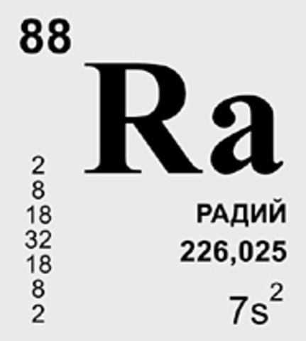 Выделение металлического радия