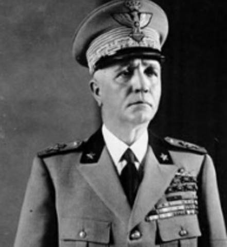 Pietro Badoglio leader in Italy
