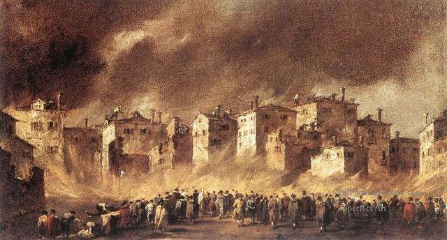 Great fire in the Rialto