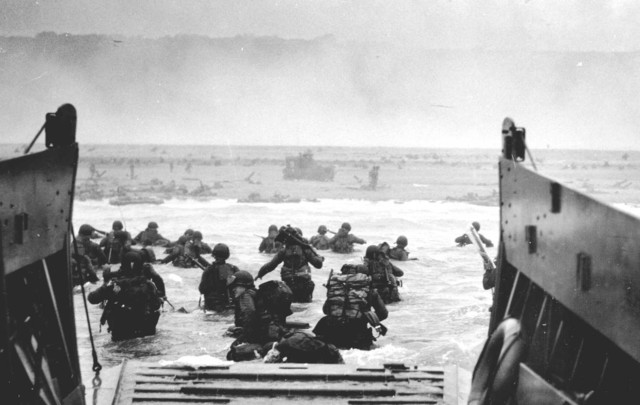 On D-Day, the first of nearly 3 million Allied soldiers arrive on the northern shores of France.