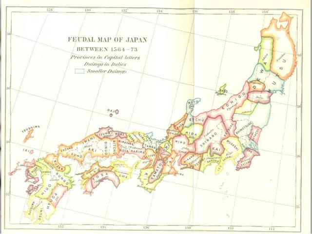 Japan consisted of about 250 small regions ruled by an emperor