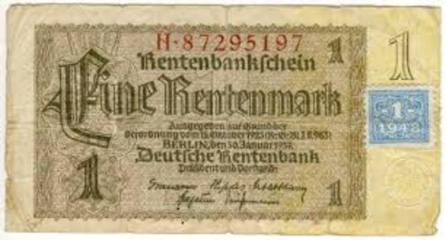 Rentenmark issued
