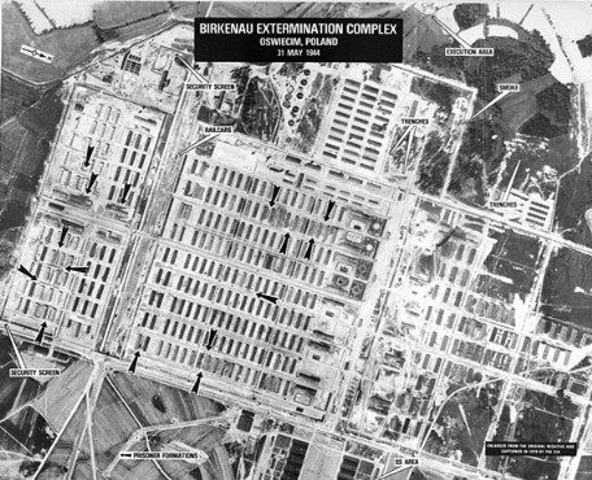 Concentration camp is established in Auschwitz. In the country of Poland.