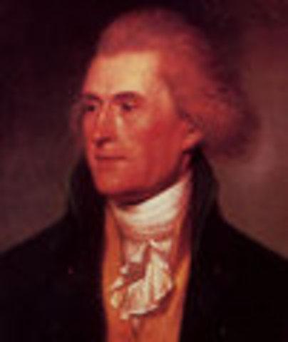 Thomas Jefferson inaugurated