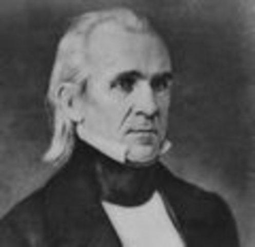 James K. Polk inaugurated
