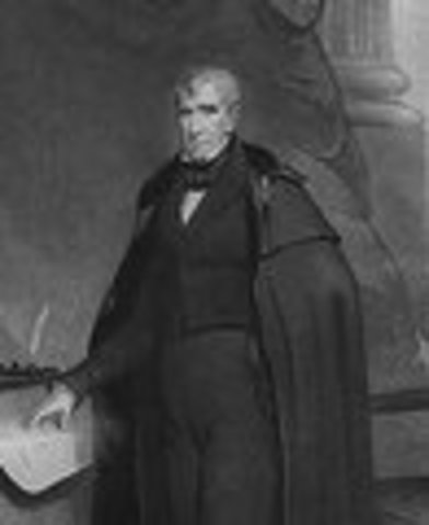 William Henry Harrison inaugurated