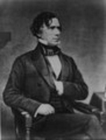 Franklin Pierce inaugurated