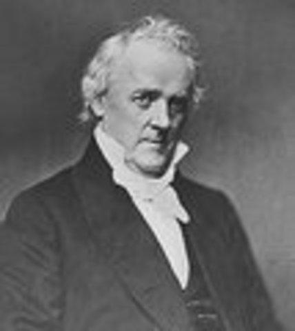 James Buchanan inaugurated