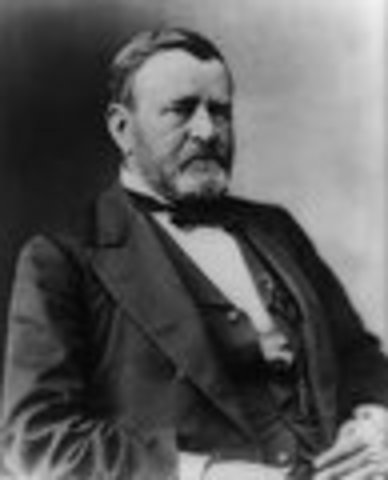 Ulysses S. Grant inaugurated