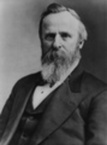 Rutherford B. Hayes inaugurated