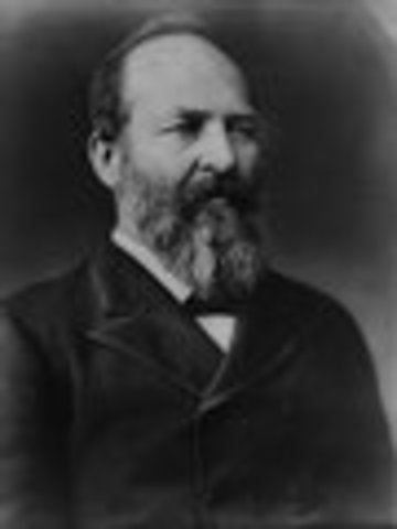 James A. Garfield inaugurated