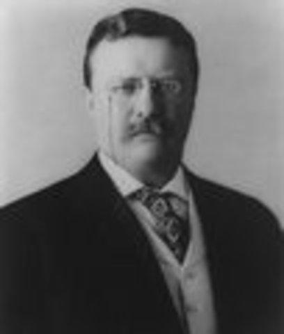 Theodore Roosevelt inaugurated