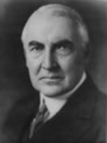 Warren G. Harding inaugurated