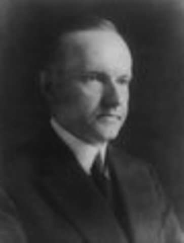 Calvin Coolidge inaugurated