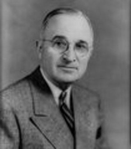 Harry S. Truman inaugurated