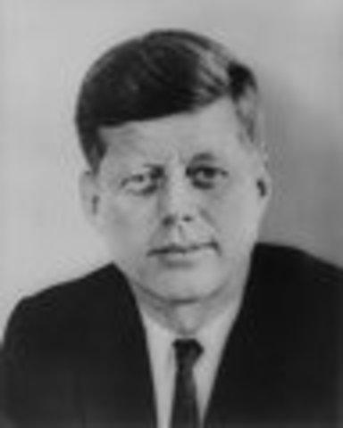 John F. Kennedy inaugurated