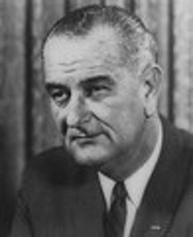 Lyndon B. Johnson inaugurated