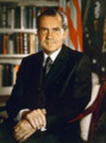 Richard M. Nixon inaugurated
