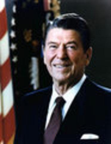 Ronald Reagan inaugurated