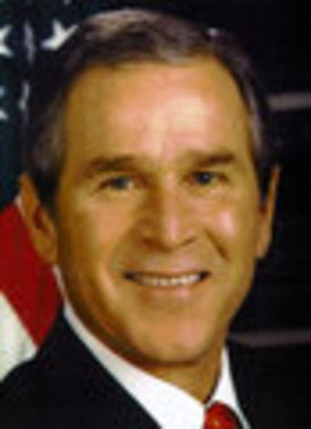 George W. Bush inaugurated