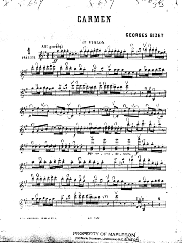 First sheet music published