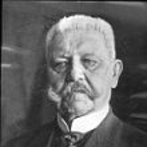 The German President von Hindenburg dies