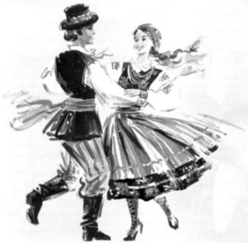 Polka style of dancing is popular
