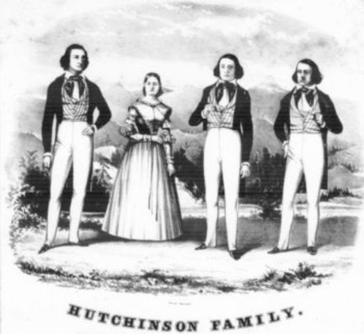 Hutchinson Family Singers begin performing