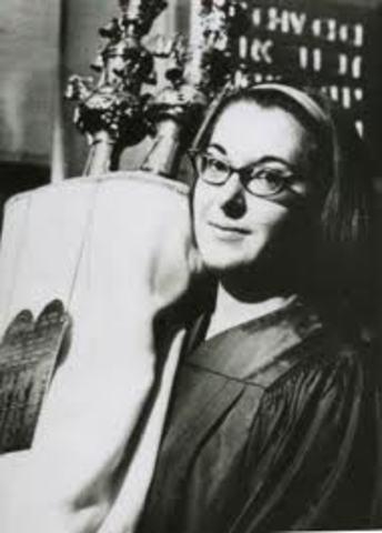 Sally Priesand Ordained by HUC-JIR as First Woman Rabbi