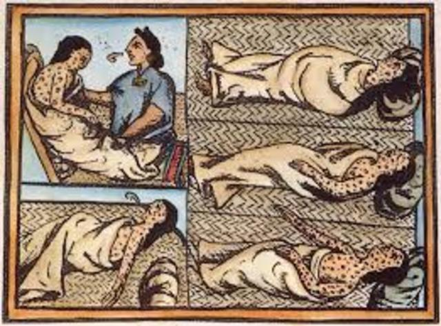 The Aztecs begin to die from smallpox