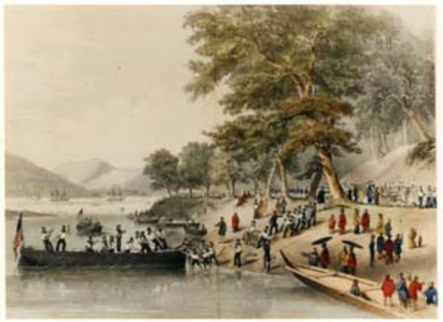 Commodore Matthew Perry arrives in Japan