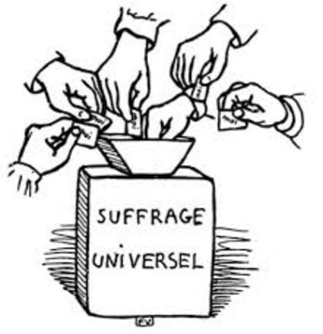 Universal Male Suffrage