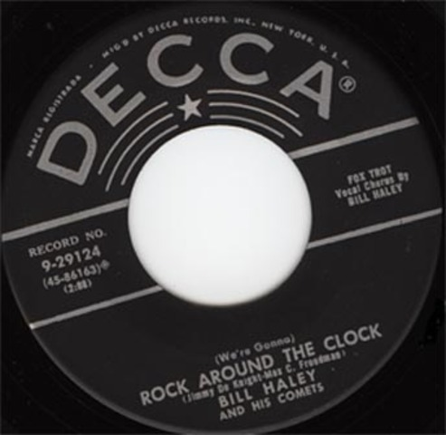 """""""Rock Around the Clock"""" becomes first commerical rock and roll hit"""