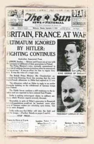 Britain and France declare war on Germany (again)
