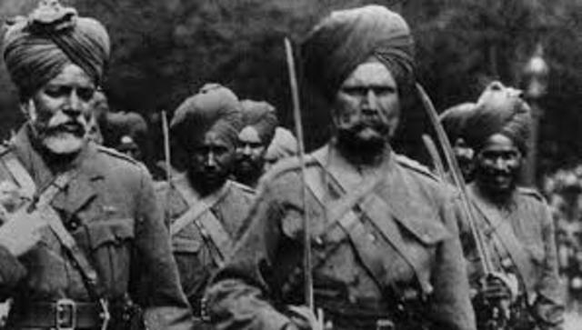Indian troops back from WW1