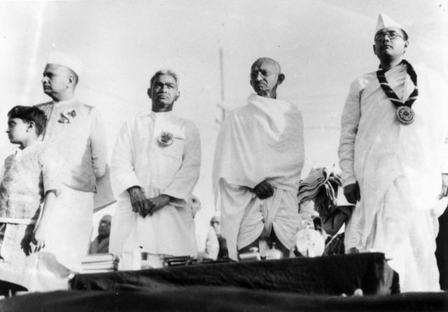 Gandhi visits places in India