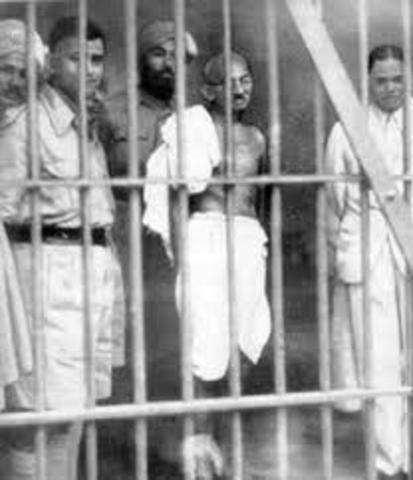 Gandhi In Jailed